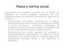 Pauta y norma social.