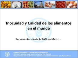 Acciones de FAO/RLC en Inocuidad de Alimentos en …