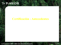 Certification Background