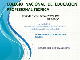 COLEGIO NACIONAL DE EDUCACION PROFESIONAL …