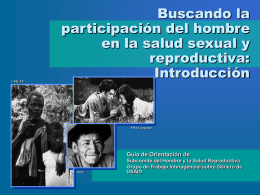 Involving Men in Sexual and Reproductive Health: …
