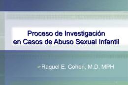 CHILD ABUSE LEGISLATION - Raquel E. Cohen, M.D., MPH