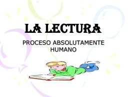 LA LECTURA - didacticadiferencialI