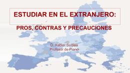 ESTUDIAR EN EL EXTRANJERO: