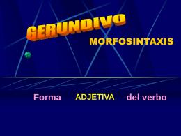 Morfosintaxis del gerundivo