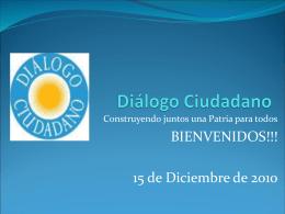 CICLO DE CONFERENCIAS Y DE DIALOGO REFLEXIVO