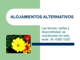 ALOJAMIENTOS ALTERNATIVOS