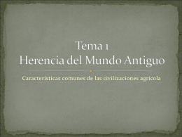 Tema 1 Herencia del Mundo Antiguo