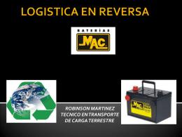 LOGISTICA REVERSA BATERIAS MAC