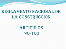 REGLAMENTO NACIONAL DE LA CONSTRUCCION …