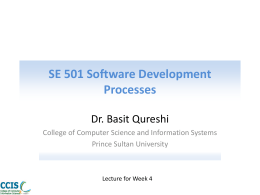 SE 501 Software Development Processes - PSU