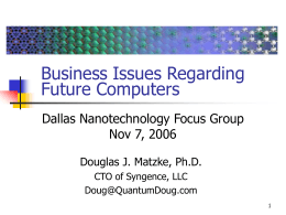 NanotechnologySlides - Matzke Family Home Page