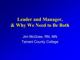 "Being A ""Leader"" In A ""Management"" Culture - T-OADN"