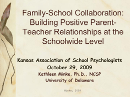 Family-School Collaboration & Problem Solving
