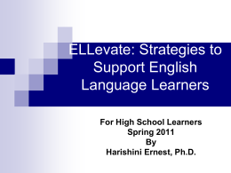 ESL Updates and Strategies for Teachers