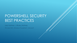 PowerShell Security Best Practices