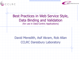 Best Practices in Web Service Style, Data Binding and