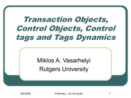 Control Tags - Rutgers University