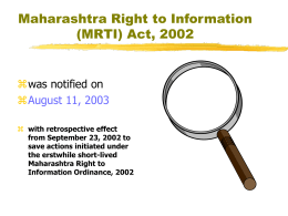 Maharashtra Right to Information Act