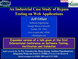 Web Bypass Testing - George Mason University