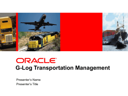 SCM Transportation Management
