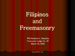 Philippine Freemasonry - Important Notice for …