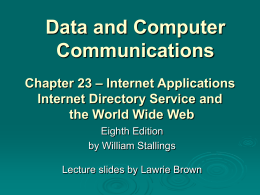 Chapter 23 - William Stallings, Data and Computer