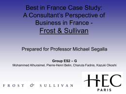 Frost and Sullivan - 2005