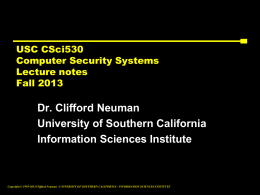 Advanced Operating Systems, CSci555 - CCSS