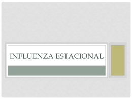 INFLUENZA ESTACIONAL