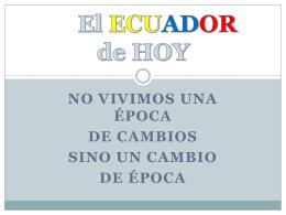 El ECUADOR de HOY - Familia Cembranista