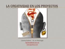 LA CREATIVIDAD EN LOS PROYECTOS