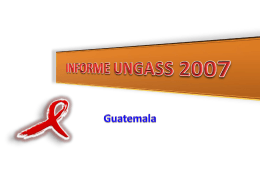 INFORME UNGASS 2007
