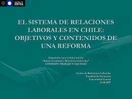 EL SISTEMA DE RELACIONES LABORALES EN CHILE: …