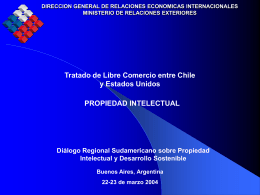 DIRECCION GENERAL DE RELACIONES ECONOMICAS …