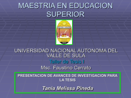 MAESTRIA EN EDUCACION SUPERIOR - Docencia unah-vs