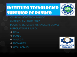 INSTITUTO TECNOLOGICO SUPERIOR DE PANUCO