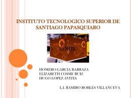 INSTITUTO TECNOLOGICO SUPERIOR DE SANTIAGO …