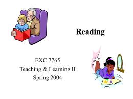 Reading - KsuWeb Home Page