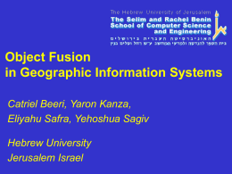 Object Fusion in Geographic Information Systems