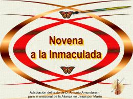novena a la Inmaculada D. Antonio Amundarain