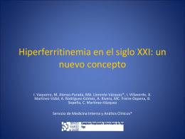 Hiperferritinemia en el siglo XXI: un nuevo concepto
