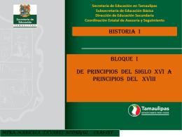 BLOQUE I DE PRINCIPIOS DEL SIGLO XVI A