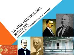La vida politica del Siglo XIX
