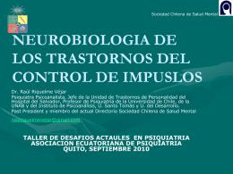 NEUROBIOLOGIA DE LOS TRASTORNOS DEL CONTROL …