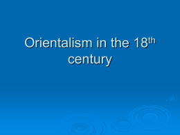 Orientalism in the 18th century