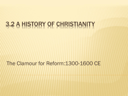 3.2 A History of Christianity - Religious Education Resources