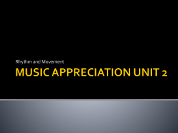 MUSIC APPRECIATION UNIT 2 - Berks Catholic / Homepage