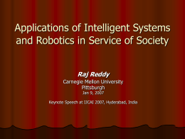 Lifeline - Reddy, Raj - Carnegie Mellon University