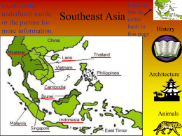 Southeast Asia - South Gibson School Corporation